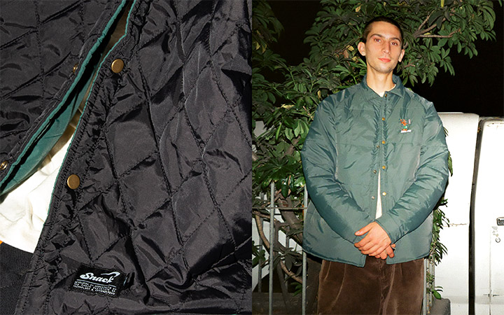 snack winter 21 lookbook master web hardwood jacket both sides